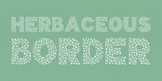 Herbaceous Border font download