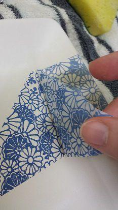 La aplicación de Papel Tissue japonesa a la arcilla