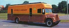 bookmobile, Mercer County (N. Library Week, Mercer County, Harvester, Kitchen Redo, Dates, 1960s, Wheels, Public, History