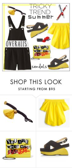 """Tricky Trend Summer Style"" by pat912 ❤ liked on Polyvore featuring J.Crew, Jimmy Choo and polyvoreeditorial"