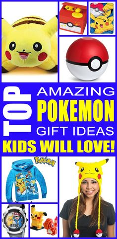 Pokemon gift ideas! Find fun pokemon gifts for boys and girls. This is the ultimate pokemon gift guide that kids, teens, tweens, friends and adults will love. You can always DIY your gifts but shopping for pokemon products is so cool. Get awesome birthday gifts or Christmas gifts for the pokemon lover in your life.
