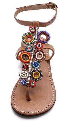 Laidback London Skye Beaded Sandals #boho #sandals
