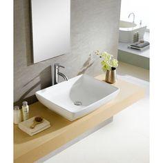 Found it at AllModern - Modern Vitreous Rectangular Vessel Bathroom Sink