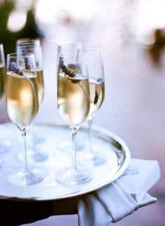 Cocktail Idea:  Lavender Champagne
