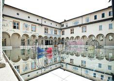 GamFratesi add mirrors to cloister for Danish design exhibition