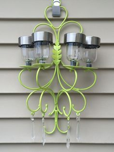 How to Make a Solar Chandelier with Magnets (www.ChefBrandy.com)
