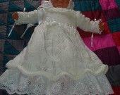 robe de baptême en tricot