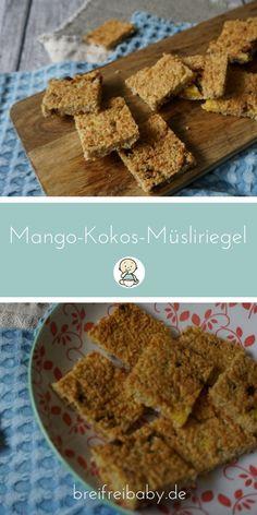 Ein Rezept Müsliriegel für Babys - Fruchtriegel Mango-Kokos