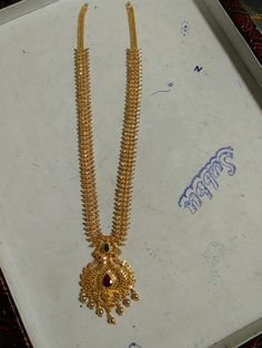 Long h aram Gold Ring Designs, Gold Earrings Designs, Gold Jhumka Earrings, Gold Jewellery Design, Gold Haram Designs, Gold Necklace Simple, Gold Jewelry Simple, Gold Wedding Jewelry, 18k Gold