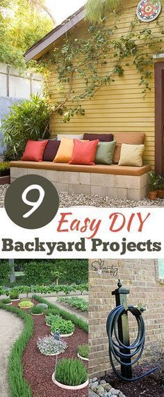9 Easy DIY Backyard Projects-