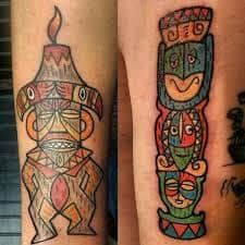 Trader Sams and Pele tiki tattoo art by my favorite artist Tiki tOny Tiki Tattoo, Tattoo Art, Disney Tattoos, Tiki Room, Ink, My Favorite Things, Retro, Artist, Instagram Posts
