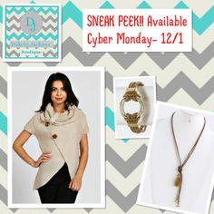SNEAK PEEK!!! Available Cyber Monday (12/1) on the Dakota Jackson Boutique Facebook pg.  www.facebook.com/DakotaJacksonBoutique  REPIN!!