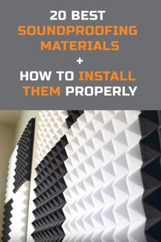 These are the top 20 soundproofing materials for different projects such as: house insulation // car sound deadening // soundproofing walls // window soundproofing // ceiling insulation // floor insulation // weatherstripping and more! Soundproofing Walls, Soundproof Panels, Soundproofing Material, Home Music Rooms, Music Studio Room, Sound Room, Acoustic Wall Panels, Drum Room, Floor Insulation