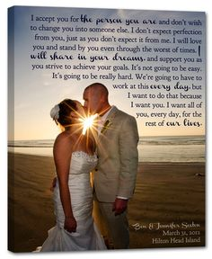 Such a sweet keepsake. Your wedding portrait on canvas! Love the idea of incorporating your wedding vows.