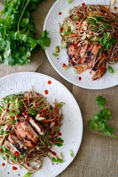 Vietnamese Grilled Chicken with Soba Noodles make a delicious and easy weeknight dinner