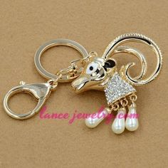 Lovely sheep model pendant key chain