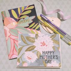 Greeting cards and journals in soft florals and pastel pens - perfect for stationery loving mummas! www.thepaperempire.com.au