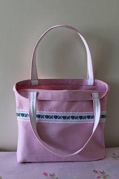 Tanja.L / ružová romantická taška s krajkou vintage Folk Costume, Costumes, Ribbons, Ted Baker, Tote Bag, Bags, Fashion, Handbags, Moda