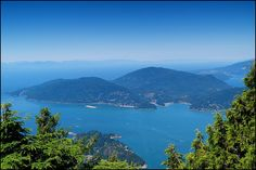 Bowen Island, BC  (View from Eagle Bluffs, Cypress Mountain, North Vancouver)