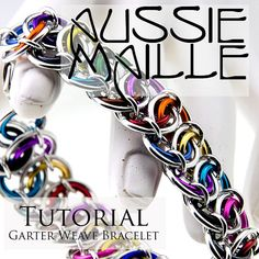 Chainmaille Tutorial  Garter Weave Bracelet by AussieMaille, $4.50