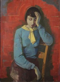 Karl Christian Ludwig Hofer aka Carl Hofer (German, 1878~1955) was a German expressionist painter. One of the most prominent painters of expressionism, he never was a member of one of the expressionist painting groups, like 'Die Brücke', who influenced him.