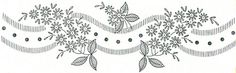 138 Superior b by love to sew, via Flickr Hand Embroidery Patterns Flowers, Embroidery Motifs, Hand Embroidery Designs, Vintage Embroidery, Embroidery Applique, Floral Embroidery, Machine Embroidery, Fabric Painting, Needlework