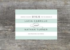 Modern Save the Date Bold Stripes 30 by brightsideprints on Etsy, $50.70