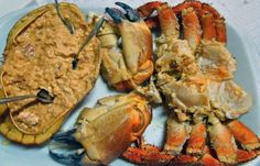 How to make Portuguese stuffed stone crab (Sapateira Recheada).