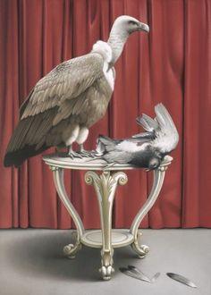 Eckart Hahn, Zwei Vögel, 2010, Acryl auf Leinwand, 70 x 50 cm