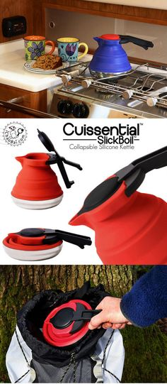 Collapsible sllicone kettle