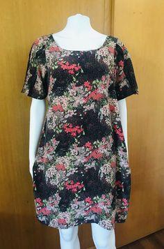 9180e8b1421a13 Halo Womens Size Large Faux Wrap Sheath Dress Multi Print Black ...