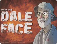 Dale Face Mousepad - The Walking Dead