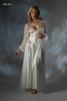 Sexy lingerie photos and videos. Join our lingerie fetish community. Satin Nightie, Silk Chemise, Satin Sleepwear, Sleepwear Women, White Nightgown, Lingerie Vintage, Pretty Lingerie, Beautiful Lingerie, Jolie Lingerie