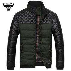 New 2015 PU leather Splice Slim stand Collar Winter Jacket Men Casual Parka Men padded Winter Jacket Casual Handsome Winter Coat http://www.xfoor.com/products/new-2015-pu-leather-splice-slim-stand-collar-winter-jacket-men-casual-parka-men-padded-winter-jacket-casual-handsome-winter-coat/