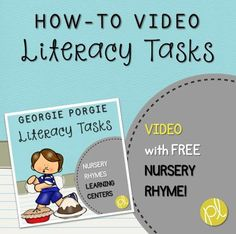 Looking for new ideas to support independent literacy centers int the K-2 classroom? I'm sharing my favorite tips PLUS there's a free center featuring an adorable nursery rhyme and numerous literacy tasks to support your students! This free product is part of a GROWING bundle featuring favorite fingerplay poems and nursery rhymes!