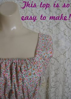 Verdant Bents: Make your own easy top. love this style, wonder if i can re-vamp an old t-shirt