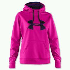 Neon pink under armour:)