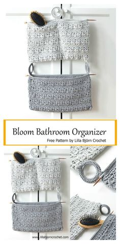 Crochet Designs Bathroom Organizer Free Crochet Pattern - This pocket hanging storage system is great to keep cleanly. The Bathroom Organizer Free Crochet Pattern is very easy and quick project to make. Crochet Patterns For Beginners, Easy Crochet Patterns, Crochet Patterns Amigurumi, Knitting Patterns, Crochet Ideas, Potholder Patterns, Crochet Designs, Crochet Home, Crochet Gifts