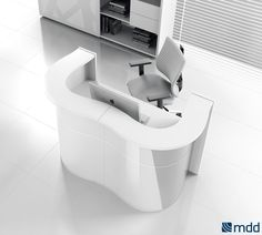 #white #gloss #front #desk wave, MDD Office Furniture Factory, wave