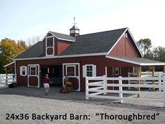 24x36 BYB Throughbred Barn