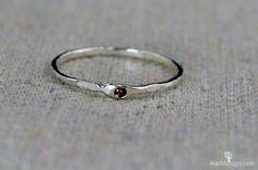 Freeform Alexandrite Ring, Pure Silver, Stackable Rings, Mother's Ring, June Birthstone Ring, Alexandrite Birthstone Ring, Alexandrite Ring