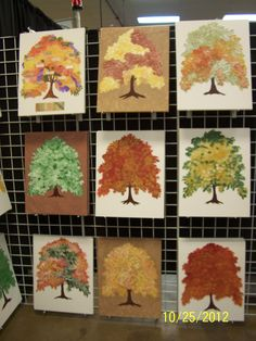 Hand painted family trees on canvas.  All original trees.