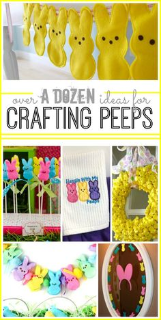 tons of idea for crafting with peeps and about peeps - - Sugar Bee Crafts