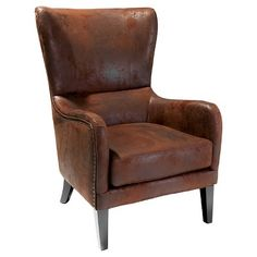 Genoa Rustic Armchair by Sky Blue Furniture. Get it now or find more Living Room Chairs at Temple & Webster. Upholstered Chairs, Wingback Chair, Eames Chairs, Arm Chairs, Furniture Upholstery, Swivel Chair, Dining Chairs, High Back Armchair, Blue Furniture