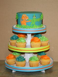 Party Cakes: Dinosaur Train Cake & Cupcake Display
