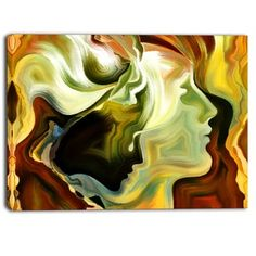 Designart - Metaphorical Inner Self - Abstract Canvas Art Print