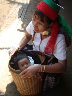 Kharen mother with her little son