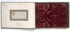 Sample book of 10 printed velveteens manufactured by Morris & Co. William Morris Patterns, William Morris Art, Pre Raphaelite Brotherhood, Edward Burne Jones, Art Diary, The V&a, Motif Floral, First Art, Victoria And Albert Museum