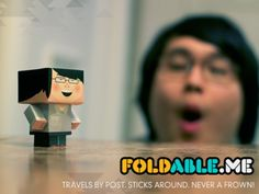 foldable.me  Such a cute idea - for the person who has everything!