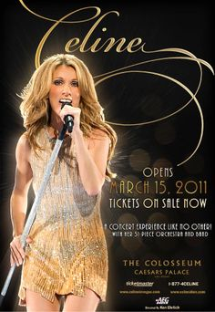 Enjoy 2 Front Orchestra tickets to see Celine Dion perform at the Coliseum at Caesar's Palace in Las Vegas and take home 2 autographed CDs! Celine Dion Las Vegas, Celine Dion Concert, Celine Dion Tickets, Nevada, Celine Dion Show, Teen Star, Billet Concert, Divas, Tres Belle Photo